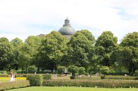Bayerische Staatskanzlei from Hofgarten