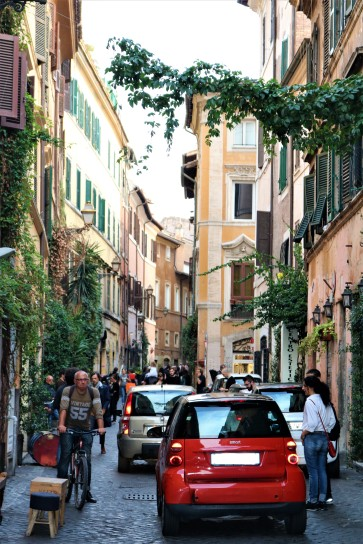 Bustling streets of Rome