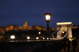 Buda Castle from Chain Bridge