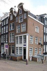 View of the leaning side of the homes: Amsterdam